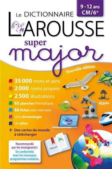 LAROUSSE DICTIONNAIRE SUPER MAJOR 912 ANS
